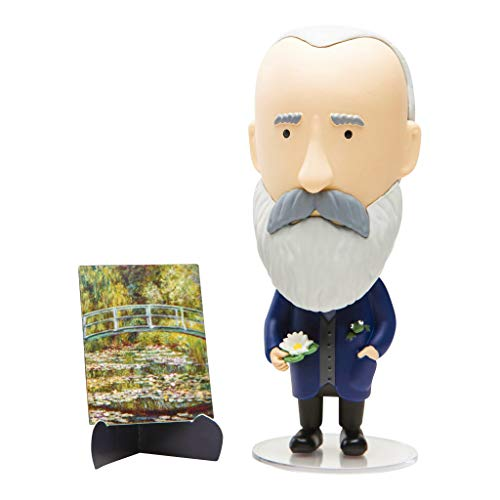 Today is Art Day - Famous Painters and Artists Action Figure Dolls - Monet - PVC - 5'H x 3'L x 3'W Inches