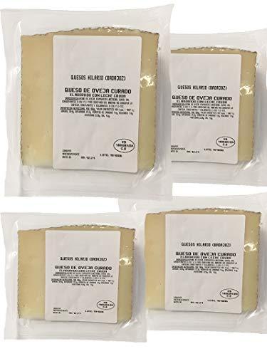 Queso de oveja curado de 1Kg compuesto por 4 cuñas de queso curado de oveja envasadas al vacío