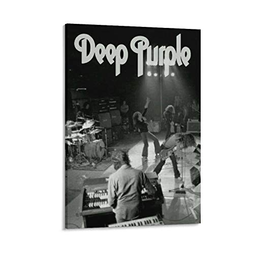 Deep Purple Black and White Rock Band Music 1 Gifts Canvas Painting Poster Wall Art Decorative Picture Prints Modern Decor Framed-unframed 12×18inch(30×45cm)