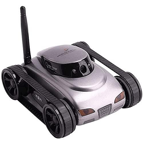 Mini WiFi RC Tank Video Car Función de transmisión en Tiempo Real Off-Road Control Remoto Coche 2.4G Remote Control, Gravity Sensing RC Tank Regalos para niños y Adultos