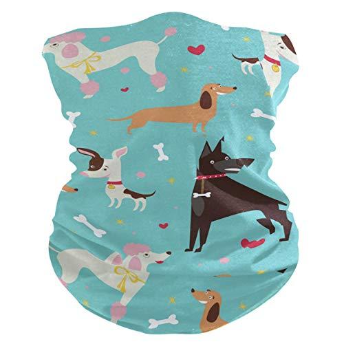 LUPINZ Magischer Schal, Angelmaske mit süßem Hunde-Motiv, Schlauchmaske, Hals-Sturmhaube und Sport-Schal, Stirnband, Schweißband