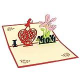 Muttertagsgrußkarte, Muttertagsblumen Popup 3D-Karte Für Den Einzigen Liebhaber Der Liebeskartenlehrerin Der Mutter