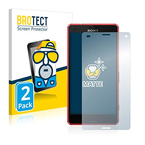 BROTECT 2X Entspiegelungs-Schutzfolie kompatibel mit Sony Xperia Z3 Compact Bildschirmschutz-Folie Matt, Anti-Reflex, Anti-Fingerprint