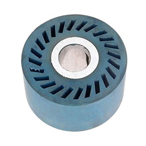 86 * 50mm massiv gerilltes Gummi-Kontaktrad für Bandschleifer Schleifer Polierfase Schleifscheibe Schleifband, 86x50x25mm massiv