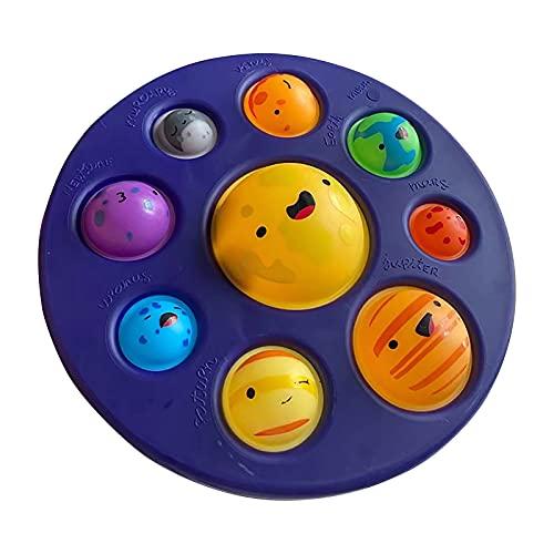 Dimple Fidget Toys, Planet Series goma suave apretando burbuja Pop Fidget Sensorial Juguetes para niños y adultos, alivio del estrés y antiansiedad