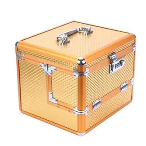 Boîte de rangement portable multi-couches grand espace de stockage mot de passe,D