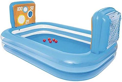 LLVV Aufblasbarer Baby-Swimmingpool-Planschbecken Kiddie-Pools-KinderFußball-Spiel-Mitte