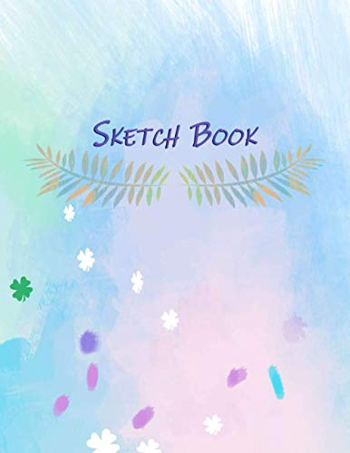 Sketch Book: 120 Blank Pages With a Good Quality, Notebook for Drawing, Sketching and Doodling, 8.5'x11', With (Colorful Watercolor Splash Background Cover)