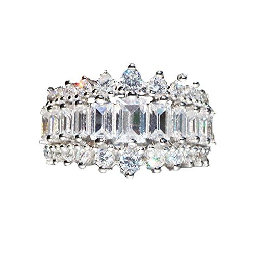 Dasinitm Fashion Super Flash Ring, Geometric Zircon Ring Ladies Wedding...
