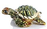 Mini Sea Turtle Figurine Trinket Box Hinged Jewelry Boxes