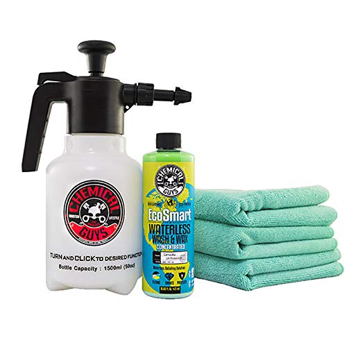 Chemical Guys HOL401 Eco Friendly Drought, Buster Waterless Car Wash & Wax Kit, 5 Items