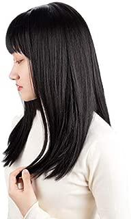 (4色) ウィッグ ロング ストレート 日本製ファイバー 耐熱 黒髪 栗色 シルバー 小顔 原宿風 可愛い 通学 通勤 日常使用
