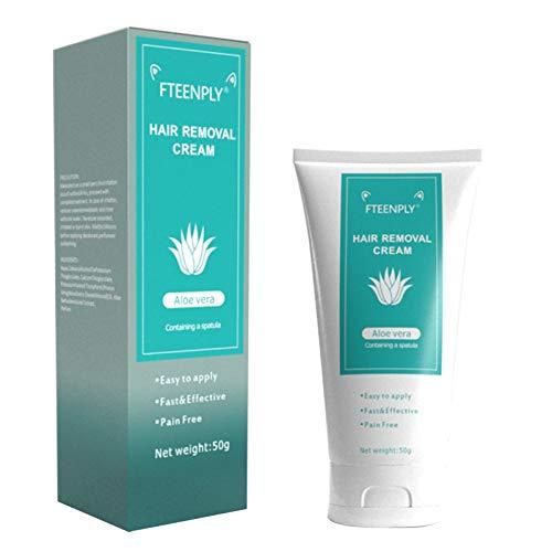 Crema depilatoria FTEENPLY Cera depilatoria natural indolora, suave y agradable para la piel, utilizada para las axilas, el pecho, las piernas y los brazos