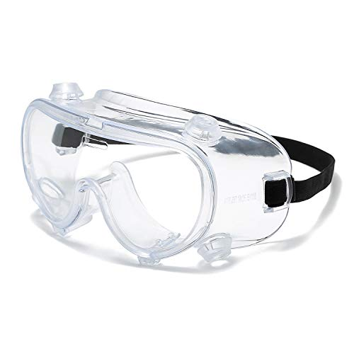 JABC Safety Goggles High-Efficiency Anti-Fog HD Lenses Industrial Protective Glasses Chemical Splash-Proof Laboratory Shock-Proof Welding Goggles Dust-Proof and Sand-Proof Wearable Myopia Glas