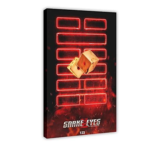 Action Movie Snake Eyes G.I. Joe Origins 5 poster in tela per camera da letto, sport, paesaggio, ufficio, decorazione per la stanza da regalo, 60 x 90 cm