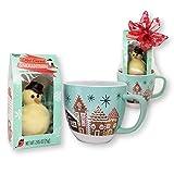 Winter Wonderland Hot Chocolate Mug Gift Set Includes Trader Joe's Hot Cocoa Melting Snowman & Large Ceramic Mug (2-Piece Set)