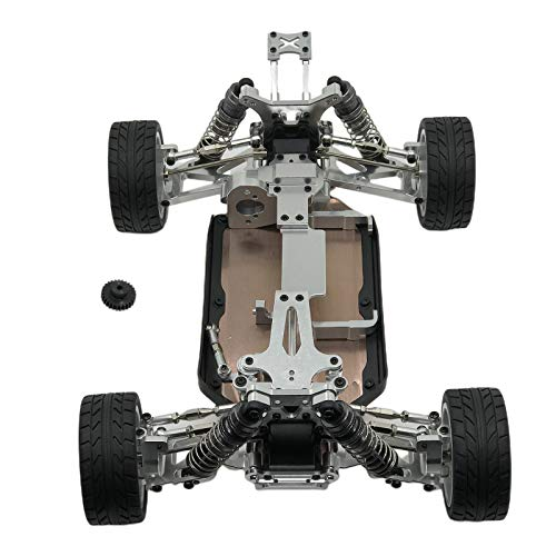 LoveinDIY WLtoys 144001 RC Car Body Frame 1/14 Scale 4WD Buggy Chassis - Silver