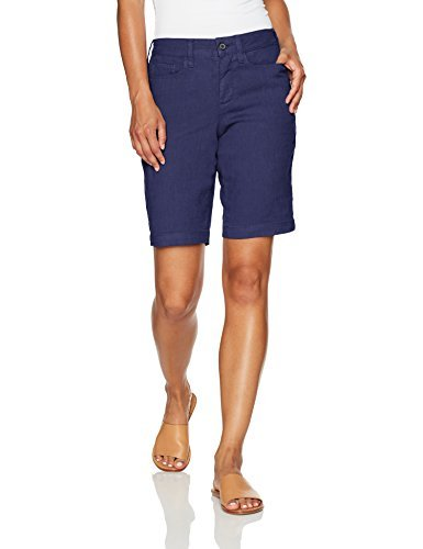 NYDJ Women's Petite Size Catherine Short in Stretch Linen, Republique Navy, 2P