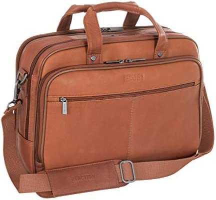 Kenneth Cole Reaction Resolute Men s Briefcase Full Grain Colombian Leather 16 Laptop Portfolio product image