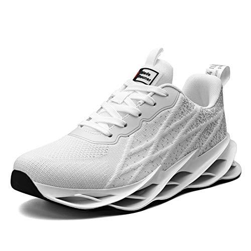 LIN&LE Laufschuhe Herren Turnschuhe Sportschuhe Sneaker Running Tennis Gym Schuhe Freizeit Straßenlaufschuhe Atmungsaktiv Walkingschuhe Outdoor Fitness Jogging Schuhe