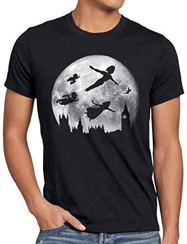 CottonCloud Nimmerland Herren T-Shirt Wendy Peter Hook märchen, Größe:M