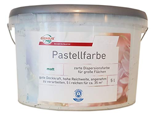 Genius Pastellfarbe Wandfarbe matt 5 L Farbwahl, Farbe:Orangenblüte