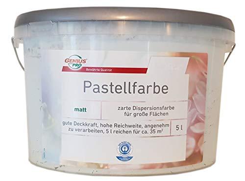 Genius Pastellfarbe Wandfarbe matt 5 L Farbwahl, Farbe:Minze
