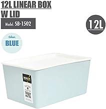HOUZE SB-1502-BLUE 12L Linear Box with Lid