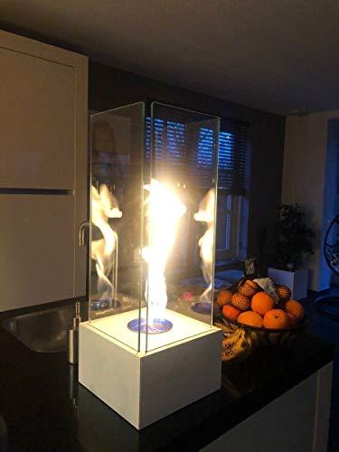 Enjoyfires Kamin, Feuerstelle, Terrassenstrahler, Garten Kamin Bioethanol 25x25x65cm