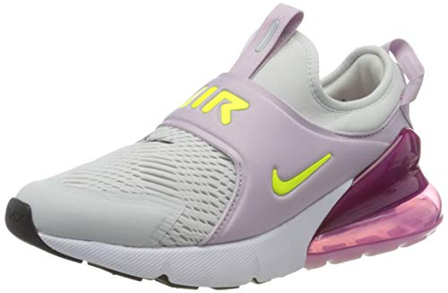 Nike Air MAX 270 Extreme (GS), Zapatillas para Correr Unisex niños, Photon Dust Lemon Venom Iced Lilac Black, 37.5 EU