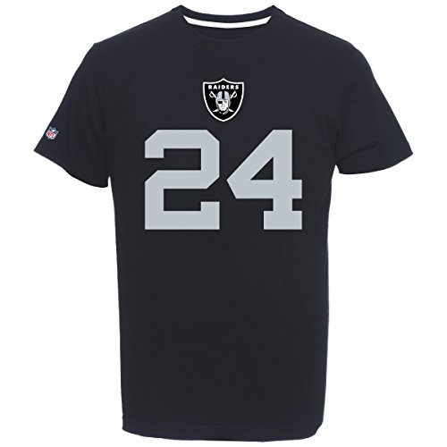 Majestic NFL Football T-Shirt Oakland Raiders Marshawn Lynch 24 Trikot (S)