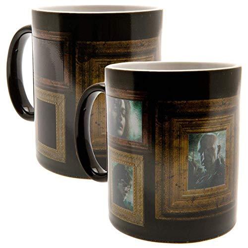 Harry Potter 5028486361403 Mug réactif à chaleur, 11 Ounces, Noir