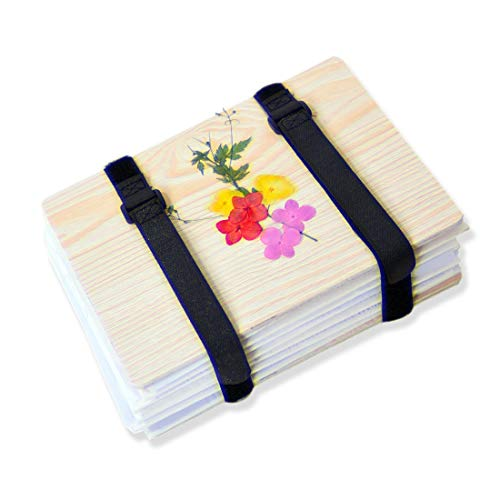 Lining Paper Straps Sponge Plant Flower Leaf Press Set for Handcraft DIY Art Greeting Cards Embossing Tool Drying Tray Flower Press Kit with Pressure Plate
