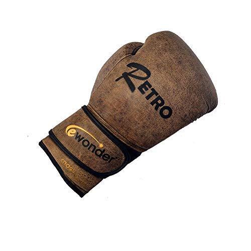 Ewonder – Guantes de Boxeo de Piel Retro, 12 onzas, Saco de Boxeo, Guantes de Boxeo, tecnología de absorción de Golpes de 4 Capas y Guantes de Boxeo