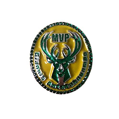 Fei Fei NBA 2021 Bucks Fan Ring Campeonato Anillo para los fanáticos Hombres colección Regalo de visualización campeón del Recuerdo de réplica,with Box,11