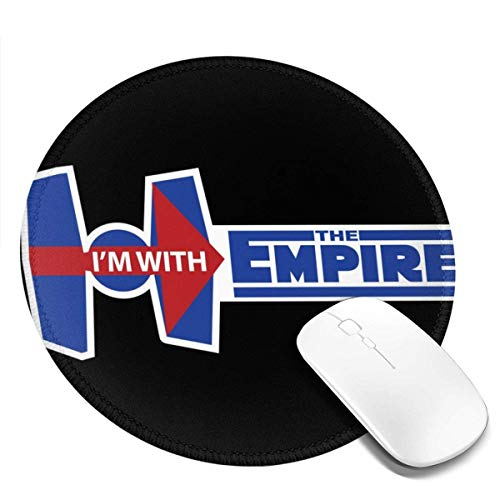 Yuanmeiju I'm with The Empire Customized Designs Non Slip Rubber Base Gaming Mouse Pads for Mac,7.9x7.9 in Pc, Computers. Ideal for Working Or Game