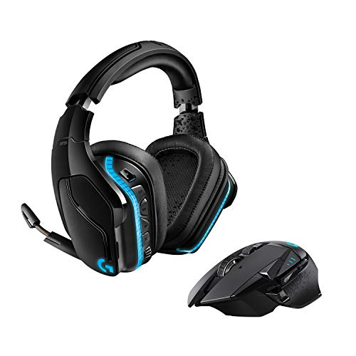 Logitech G502 Lightspeed Wireless Gaming Maus, schwarz + G935 Kabelloses Gaming-Kopfhörer