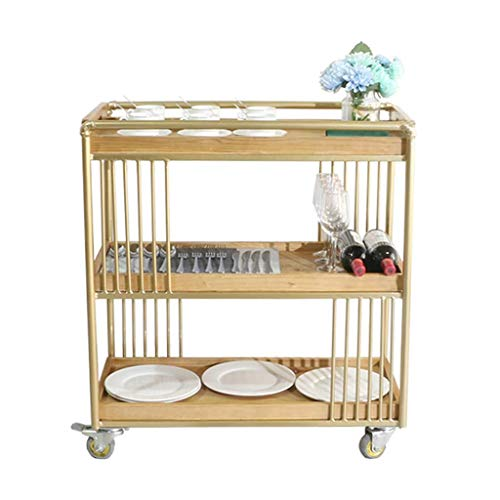 Best Prices! BBG Trolley Recycling Vehicles Multifunction Portable,Serving Cart with Wheel Industria...