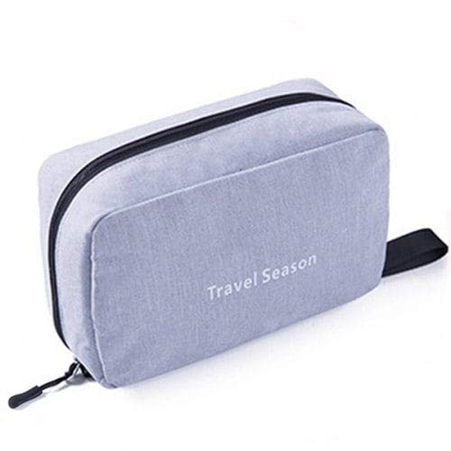 WZhen Sac De Lavage Imperméable À l'eau Cosmetic Bag Portable - Gris 23'15'9Cm