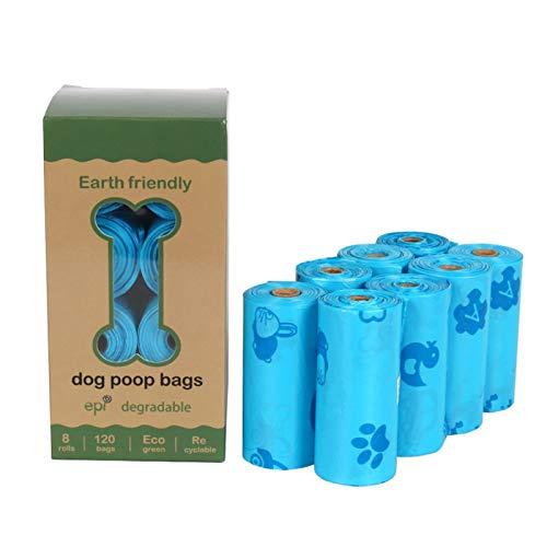 HOUHOU Maisstärke 100% biologisch abbaubar und kompostierbar Hundekot Taschen, Beutel Hundekot, Poo Beutel, kacken Beutel mit einem Spender Tasche (Color : Specification 31)