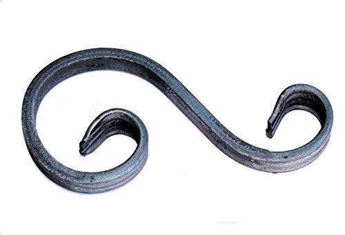 UHRIG ® S Schnörkel Bogen schmiedeeisen 12x6mm Zierelement Stahl Eisen für Zaun Geländer (150x70mm)