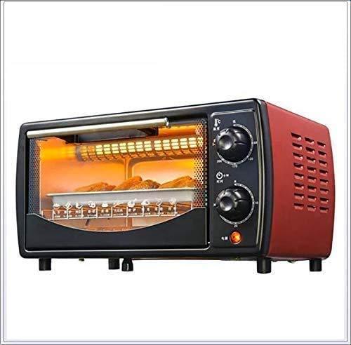 GJJSZ Panificadoras,máquina de Desayuno,Mini portátil para Hornear,Soporte de Red de un tirón,Horno eléctrico,Pizza,Desayuno,Pan,sándwich,Horno eléctrico