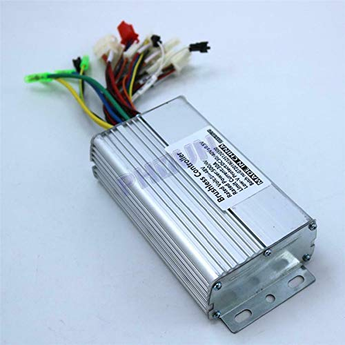 Low Noise & High Efficiency 48V 500W Brushless DC Motor Speed Controller For Electric Bike Scooter Tricycle High/Low Level E-abs Brake Regenerative braking/Backward/Reverse/Cruising Control