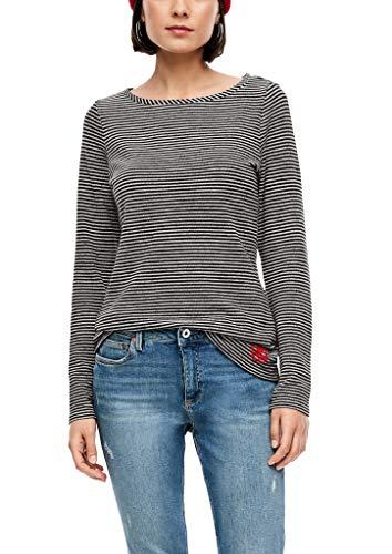 Q/S designed by - s.Oliver Damen 510.10.009.12.130.2043888 T-Shirt, Ecru Stripe, XXL
