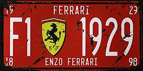 Placa de metal de 15,2 x 30,5 cm para coche Enzo Ferrari, bar, pub, cafetería, decoración del hogar, retro, cartel vintage, 30,5 x...