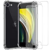 For iPhone SE 2020 Case with 2 x Tempered Glass Screen