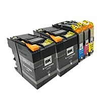 BROTHER LC15E-4PK+BK(BK2/C/M/Y) 5本セット 〈ブラザー〉良質互換インクカートリッジ ICチップ/残量表示/1年間保証付き 〈Chip製〉