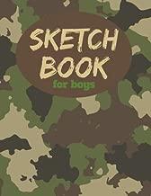 Sketch Book For Boys: 8.5