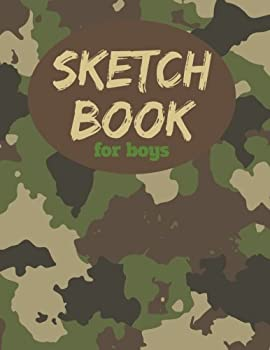 Sketch Book For Boys  8.5  x11  Blank Paper for Drawing Arts and Crafts Drawing Pad for Sketching and Doodling
