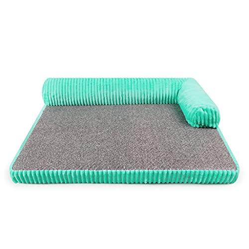 Flashing Tappetino per letto per cani Cuccia estiva in rattan Cuscino rimovibile lavabile in cotone Memoria per divano Tappetino per cucce per animali domestici Canile per sdraio Divano morbido per an